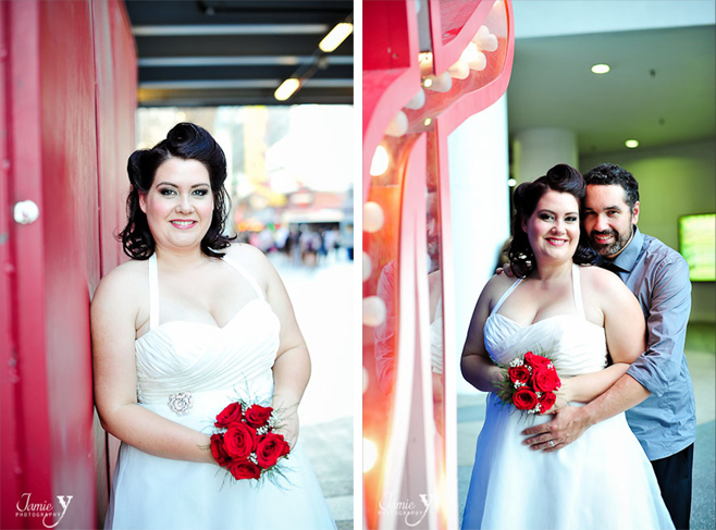 Elise & Sebastian | Retro Downtown Wedding Portraits