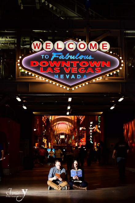 Downtown Las Vegas Engagement   Brent & Leigh